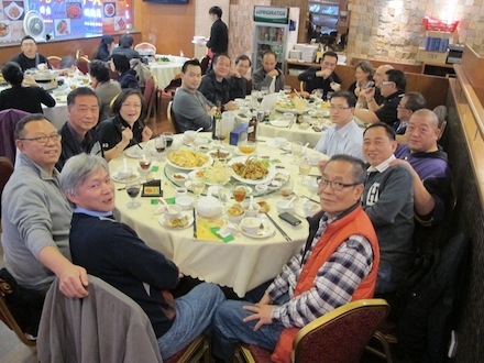Dinner in Hong Kong with brothers 2012